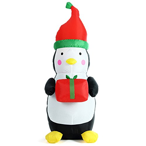 BAKAJI Pinguino Gonfiabile con Scatola Regalo...
