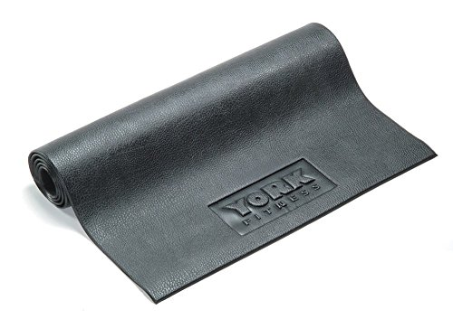 York Fitness Equipment and Exercise Mat - Non-slip Rubber Gymnastic mats,Exercise Camping Mats – For Yoga, Treadmills, Benches, Cycles, Rowers and Cross Trainers – Large – 182cm/76cm