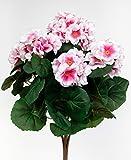 Geranie 38cm rosa -ohne Topf- ZF Kunstpflanzen künstliche Blumen Pflanzen Kunstblumen … (rosa)
