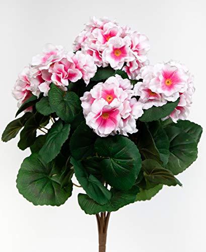 Seidenblumen Roß GmbH -  Geranie 38cm rosa