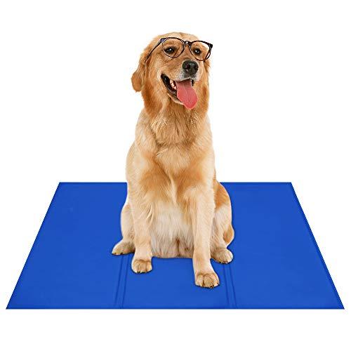 Bravpet Alfombra Refrescante , Relleno Autorefrigerante para mascotas, Comodidad para Perros y Gatos(XL)