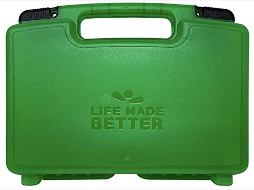 Green Toy Storage & Travel Case with Secure Fastening System, Compatible with Buttheads Figures, Fits Multiple Action Figure Toys & Their Accessories, Created by Life Made Better