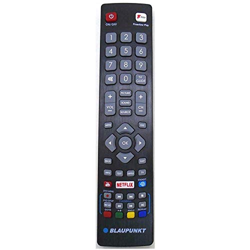 Pehtini New POFRMC0001 Replacement Remote Control for Blaupunkt LED LCD 3D TV Bring Netflix Freeview Button