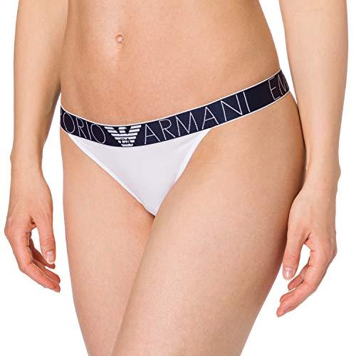 Emporio Armani Underwear Thong Iconic Logoband Tangas para Mujer