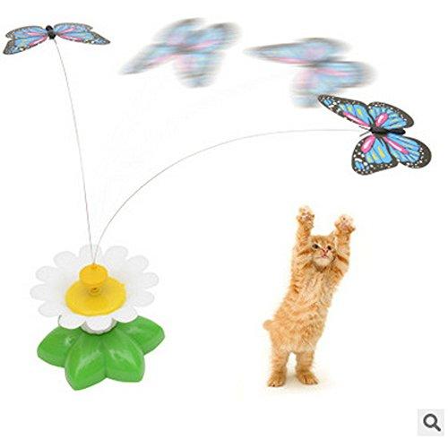 Bescita Katzenspielzeug, Interaktiv, Elektrisches Drehgelenk mit Schmetterling, lustiges, interaktives Spielzeug für Katzen und Kätzchen, Butterfly-1pc