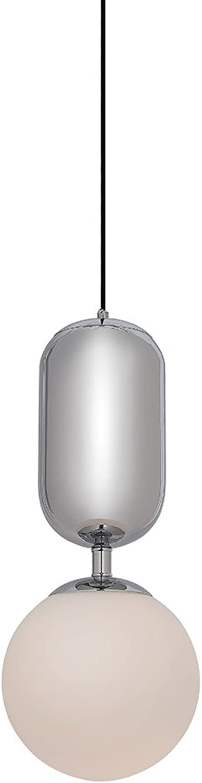 Hngeleuchte Glaskugel mit eine Chromoberflche–Retro–Globe Chrom