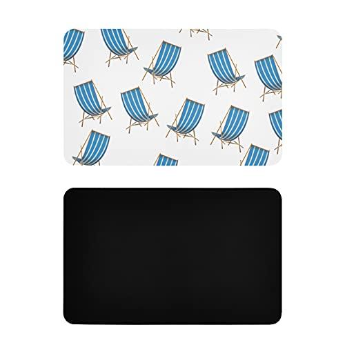 Imanes Cuadrados Lindos Dibujos Animados Coloridos Lindos imanes para refrigerador de Silla de Playa Lindos imanes Personalizados de PVC para refrigerador Accesorios Divertidos de Cocina 4x2.5 pulgad