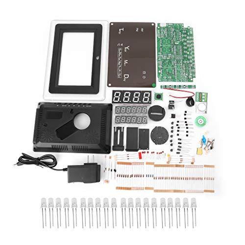 BIlinli ECL-1227 Elektronische Uhr DIY Kit Kalender Temperaturanzeige LED Digital Panel