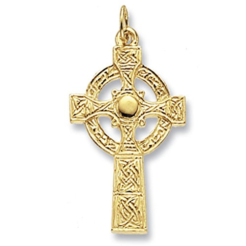 Mens 9ct Gold Maltese Cross Pendant On A 20 Inch Curb Necklace