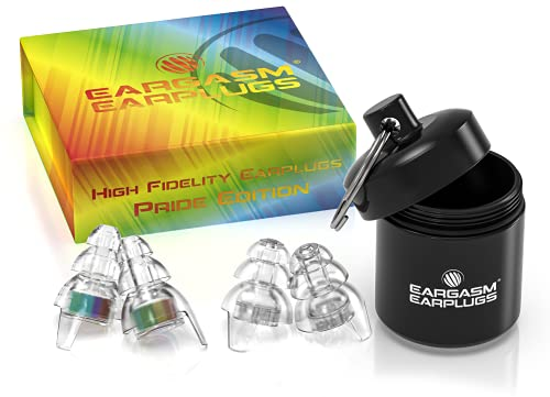 Eargasm High Fidelity Earplugs: Pride Edition - Show Your True Colors with The World's First Rainbow Earplug