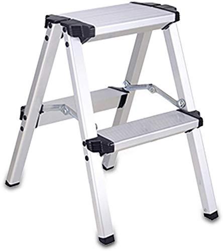 WYKDL Rango de Trabajo escalera con plataforma plegable del hogar taburete de paso ancho pedal robusto Escalera del Mango antideslizante aleación de aluminio plegable General Perfil Hogar engrosamient
