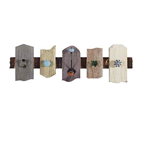 GANG Retro de Madera Ganchos Decorativos Tienda de Ropa Ganchos Capa de Madera en la Llave de la Puerta Gancho de Pino regalo de vacaciones/A