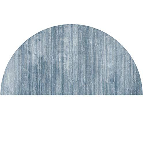 Semicircle Doormat,Large Solid Color Entrance Doormat,Modern Welcome Mat Indoor Outdoor Door Rugs for Garden Entry Way Blue 8050cm(3120inch)