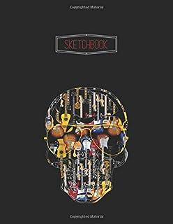 SketchBook: Guitarist Samurai Bassist Samurai Warrior Bassist Unline Notebook Sketchbook for Drawing and Journal  | 110 Pa...
