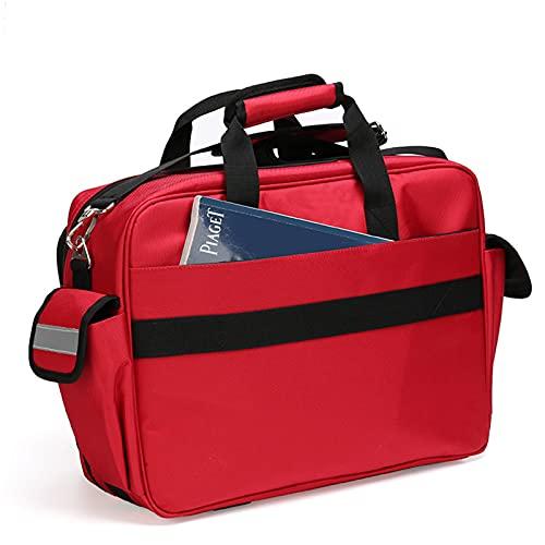 Massage-AED Kit Di Pronto Soccorso per Casa E Lavoro Bolsa vacía Emergencia roja Mochilas médicas de Primeros Auxilios, Kit de Rescate de Emergencia Impermeable para Exteriores de Gran Capacidad