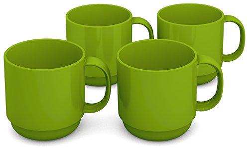 Ornamin 508 Vaso, Verde, 8 cm, 4 Unidades