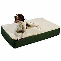 image of Snoozer Super Orthopedic Lounge Pet Bed, with Creme Sherpa