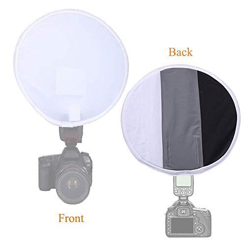 Meking 12 Inch (31cm) Gray Card Portable Softbox Multi-Function Diffuser for Speedlight Flashlight