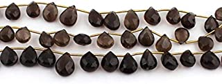 Jewel Beads Natural Beautiful jewellery Big Halloween Sale 1 Strand Smoky Quartz Faceted Briolettes - Pear Drop Beads 10mmx8mm-15mmx9mm 8.5 Inches SB805Code:- JBB-10666