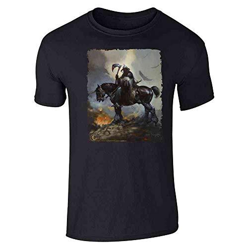 Death Dealer by Frank Frazetta Art Horror Black M Graphic Tee T-Shirt for Men