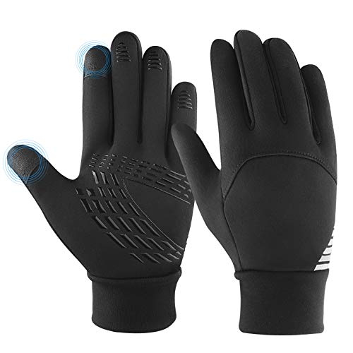 KELOYI Handschuhe Kinder Reithandschuhe Winter Fahrradhandschuhe Leichte Anti-Rutsch Laufen Handschuhe Touchscreen Handschuhe für Jungen und Mädchen-S