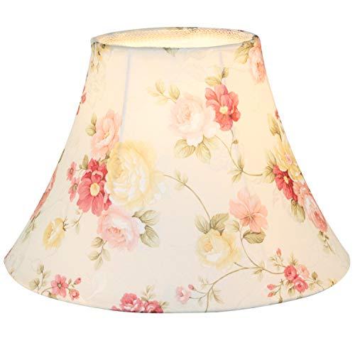 Eastlion E27/E14 Screw Tela Pantalla de Lámpara de Pie Mesa y Lámpara de Noche,rosa, 25 cm