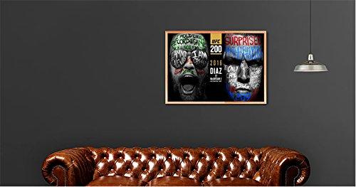 Plakat UFC Conor Mcgregor gegen Nate Diaz Wand Kunst Abbildung 3