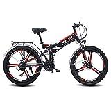 LXLTLB Bicicleta Plegable Folding Bike 26in Bicicleta Eléctrica Plegable de Montaña 48V Batería Litio Speed Assist 21 Asistencia de Velocidad 300W E-Bike