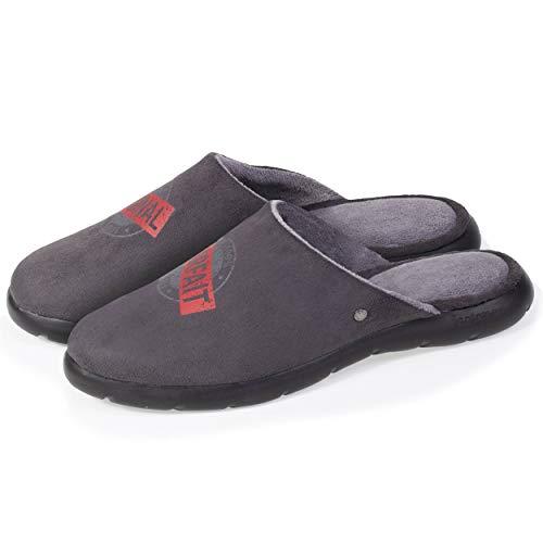 Isotoner - Zapatillas para hombre, Gris (gris), 42 EU