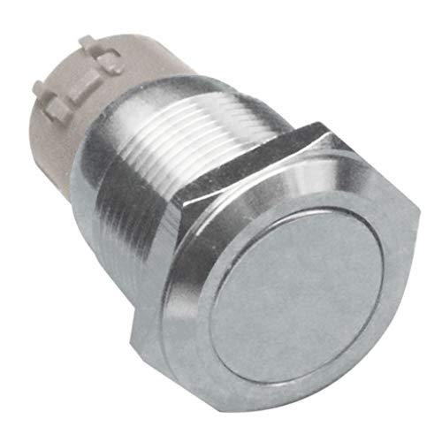 Bonarty Interruptor de Botón Pulsador 1NO1NC de Enclavamiento Momentáneo de 19 Mm 250 V de Metal - #3
