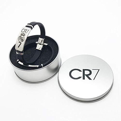 CHOCHO Pulsera Ajustable modificada para requisitos particulares del silicón de la Pulsera de los Deportes del Baloncesto de la Pulsera del silicón de Las Letras-Caja Regalo Cristiano Ronaldo