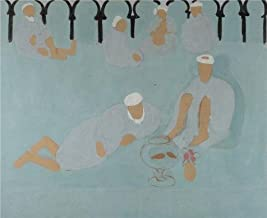 Oil Painting 'Arab Coffee House 1912-13 By Henri Matisse' Printing On Perfect Effect Canvas , 30x37 Inch / 76x93 Cm ,the Best Foyer Artwork And Home Gallery Art And Gifts Is This Vivid Art Decorative Canvas Prints