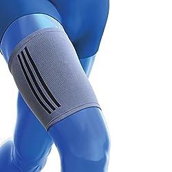 Kedley Oberschenkelbandage, elastisches Kompressionsband, ideal für zerrte Oberschenkelmuskulatur, strapazierte oder geprellte Muskeln, Quad-Verletzungen, Größe S/M