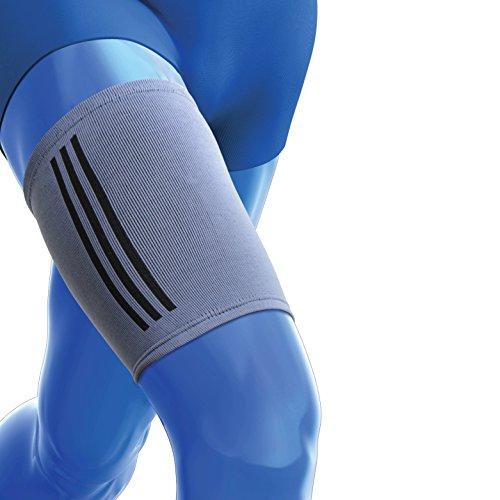 Dijsteun mouw van Kedley | Elastische compressie band ideaal voor getrokken hamstring, gespannen of gekneusde spieren, quad blessures Kleine/Medium