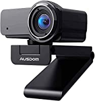 Ausdom Full HD webcam 1080p, OBS Live Streaming Caméra, Webcam USB pour Xbox Skype Twitch YouTube Facebook, Compatible...