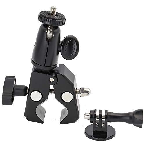 EXSHOW Soporte for GoPro, Soporte Camera para Moto Bike Manillar, Universal for GoPro Hero 7 6 5 4 3+ 3 2 and Other Action Cameras (1/4-20 Rosca + Antideslizante Clamp)