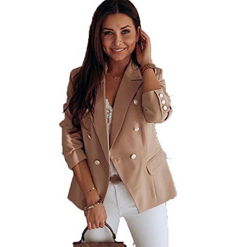 Youth ever dames blazer getailleerd losse pak Cardigan dun elegant licht Bolero jas blazer trenchcoat geel XL