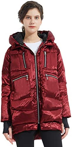 Orolay Women s Thickened Down Jacket Hooded Wine XS product image