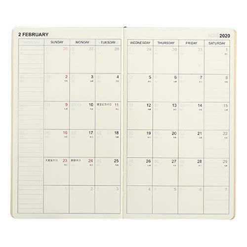 伊東屋2012月始まりオリジナル両面1週間手帳ブラック
