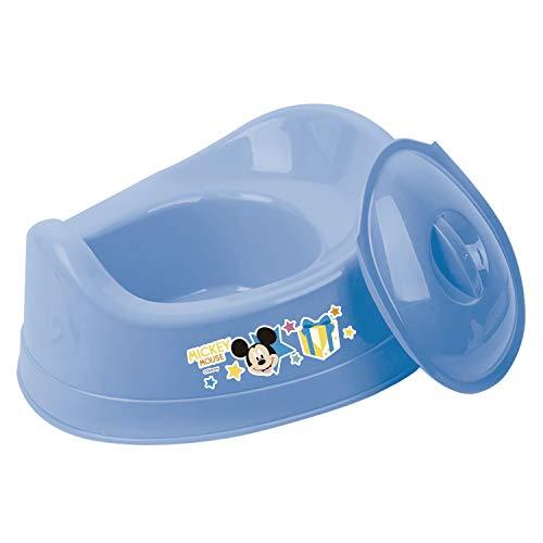Disney Mickey Mouse Vasino con Coperchio, Vasini per Bambini, Leggero Portatile Facile da Usare, Sedile per WC per Neonati Blu
