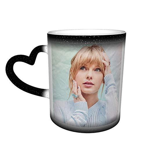 3396 Taylor-Swift - Taza cambiante de color en el cielo, hecha a medida, regalos para él, regalos para ella, taza cambiante de color sensible al calor