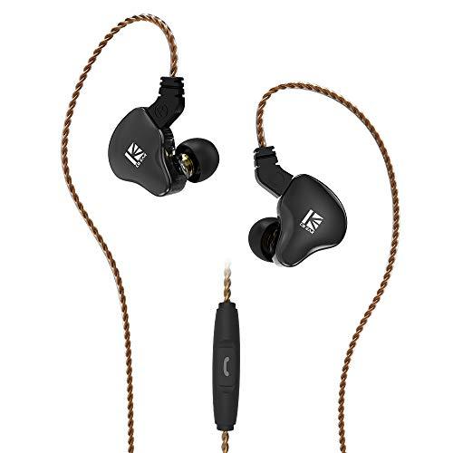KBEAR KS2 イヤホン 重低音インイヤーモニター 1BA+1DDハイブリッド イヤホン TFZタイプ2pin仕様 (KS2 黒 with microphone)