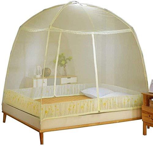 Kyman Mosquito Pliant Filets Foldedable Camping moustiquaire Moustiquaires Universal Chambre Home Textile Out Door Supplies-Medium_Pink (Color : Beige, Size : Medium)