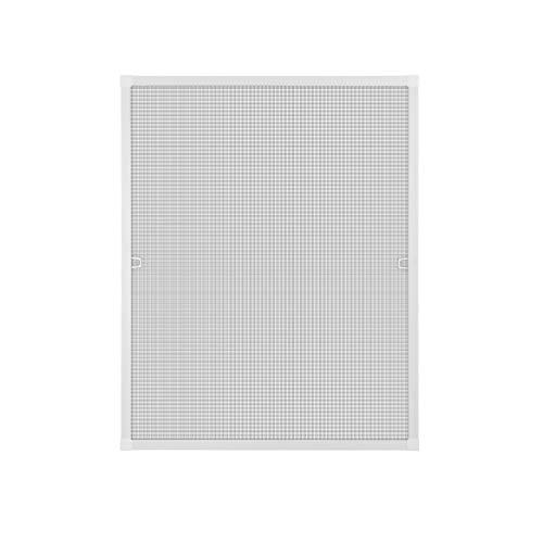 Fliegengitter Insektenschutz Fenster Alu Rahmen Bausatz 100 x 120 cm weiß