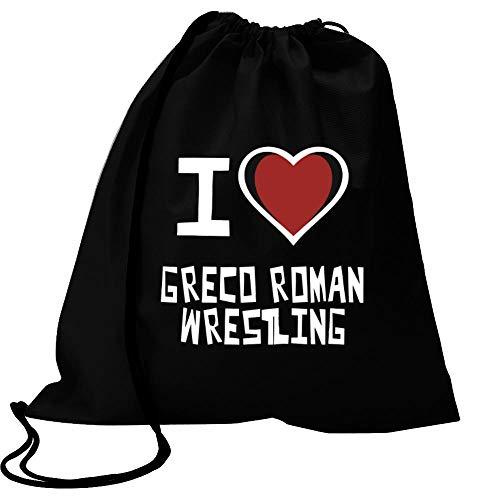 Idakoos I Love Greco-Roman Wrestling Bicolor Heart Sport Bag