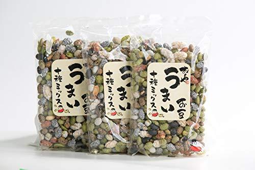 おくや うまいお豆 十種ミックス 420g(140g×3袋) 豆菓子