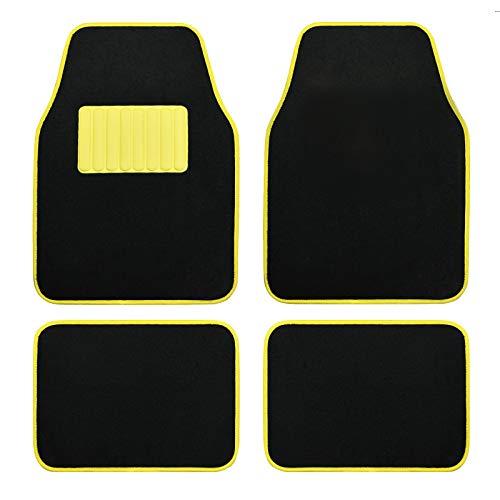 August Auto Universal Fit Glow in Dark Set of 4pcs Carpet Car Floor Mats Fit for Sedan, SUVs, Truck, Vans