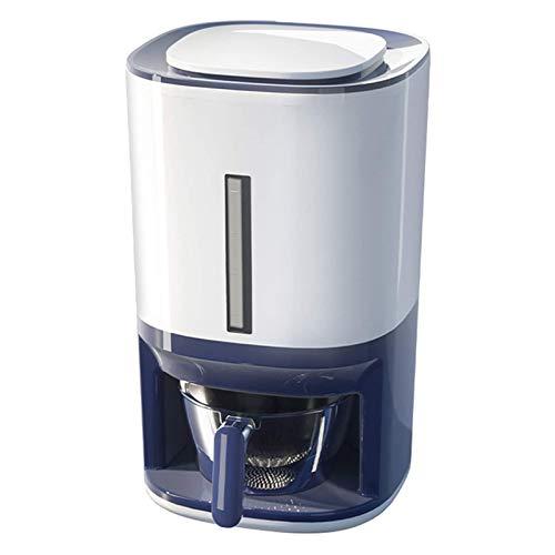 YEXINTMF Recipiente de Almacenamiento de arroz Caja de Almacenamiento de Alimentos para Cebada Dispensador de arroz automático Caja de Almacenamiento de Grano Cubo de arroz para el hogar con Tapa