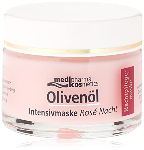 Medipharma Cosmetics, cosmetics OLIVENÖL INTENSIVMASKE Rose Nachtcreme1 x s, 50 milliliter