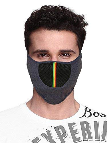 Acceptive's Fashions Bike Riding and Cycling Anti Pollution Dust Sun Protection Half Ninja Face Cover Mask (Light Blue)